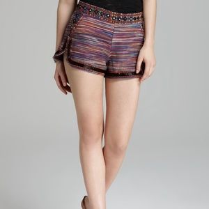French Connection Sable Embroidered Beaded Shorts